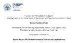 Lecture at the Electronics and Telecommunications Department of the Politecnico di Torino, Italy