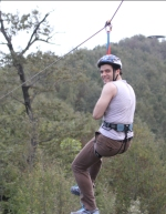 Shahryar takes zip-line on the Ramsar Roof